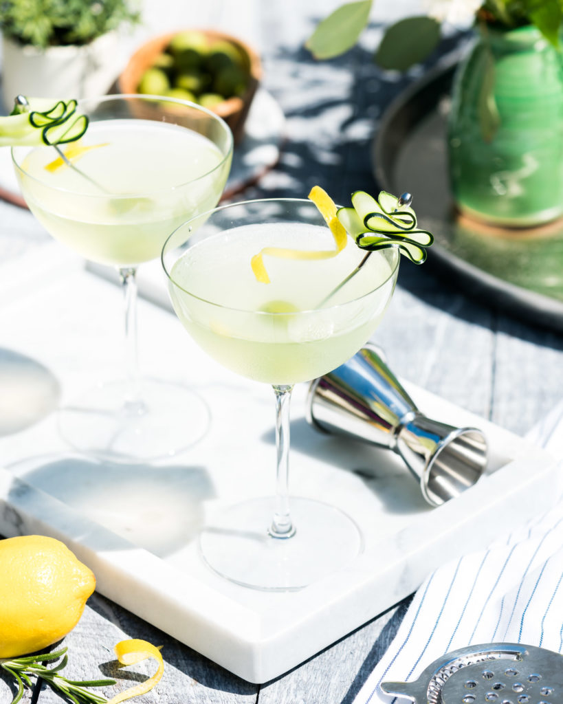 Summer Cucumber Dirty Martini