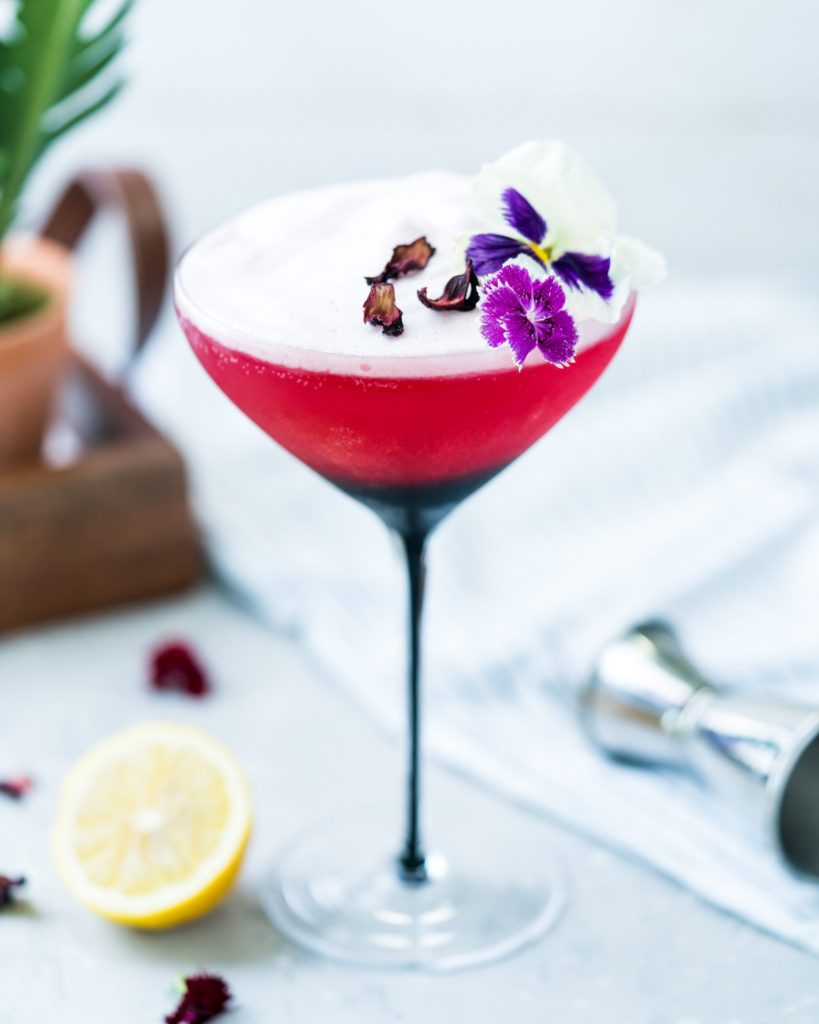 Hibiscus Gin Sour