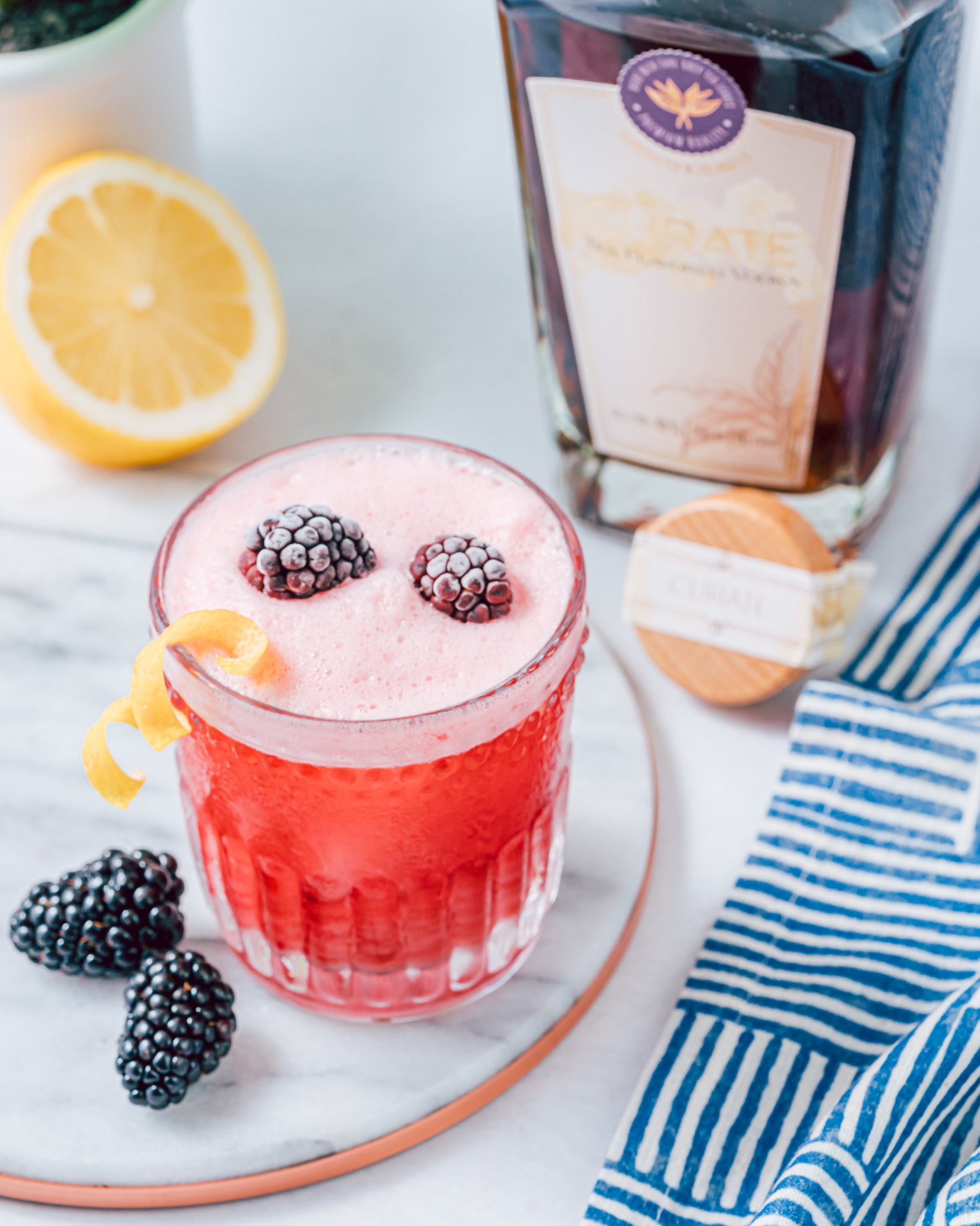 blackberry tea vodka sour