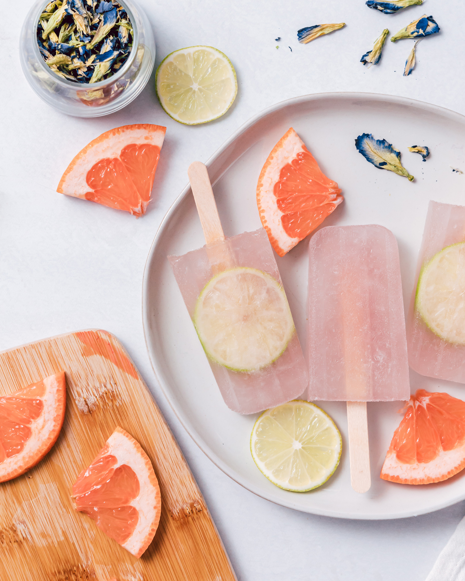 Gin and Grapefruit Popsicles