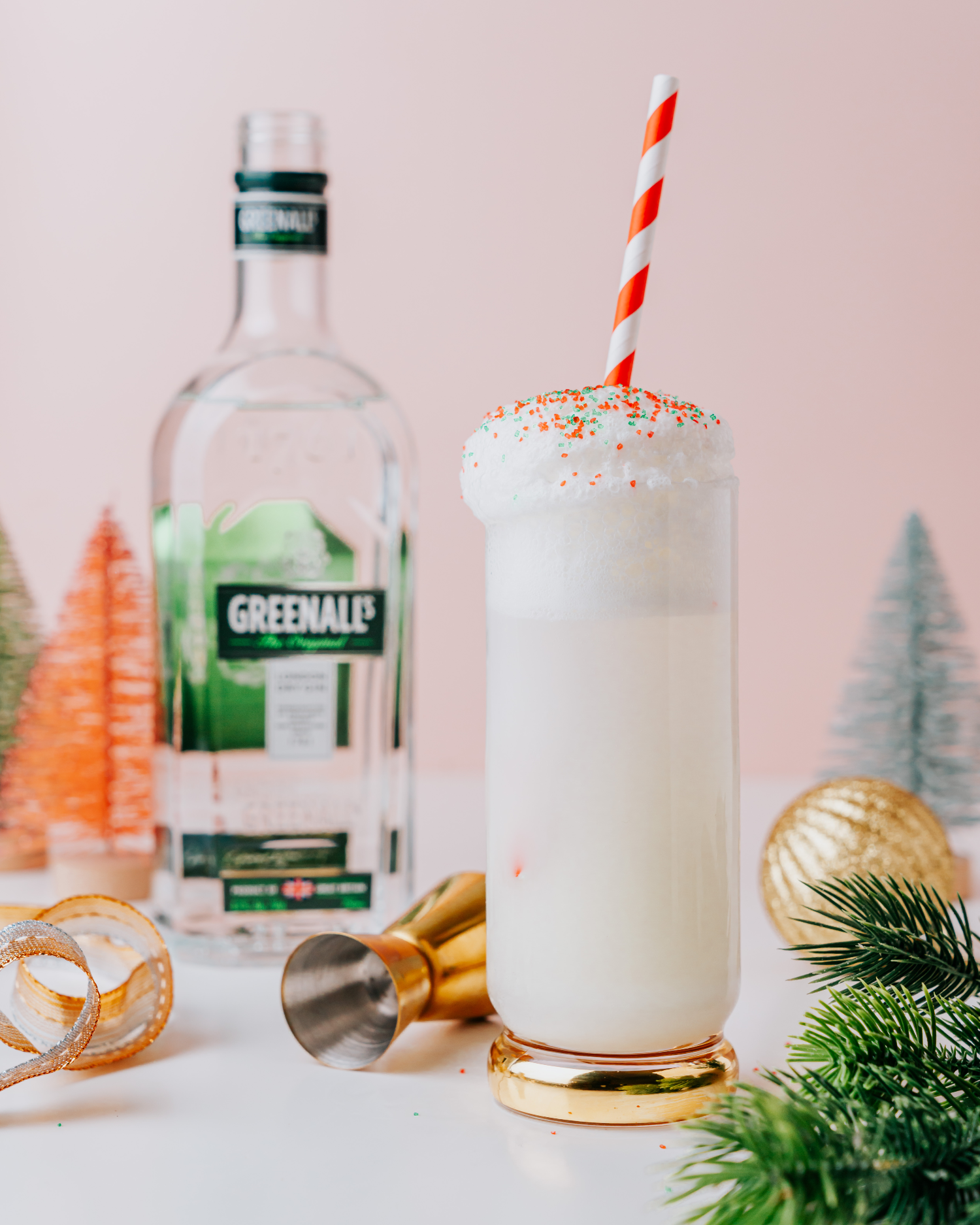 Christmas Cookie Gin Fizz