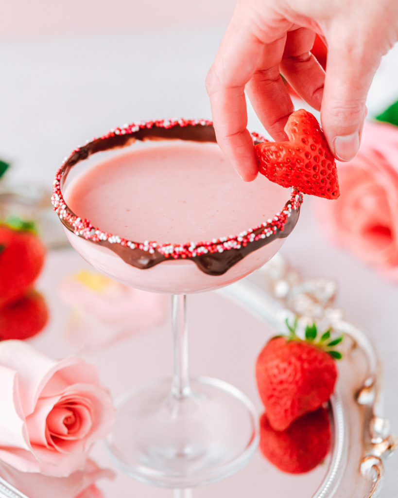 Chocolate Covered Strawberry Cocktail